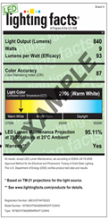 Need a DOE lighting facts label Light Laboratory can help you  sc 1 st  Light Laboratory Inc & Light Laboratory Inc. - LED lighting facts Label azcodes.com